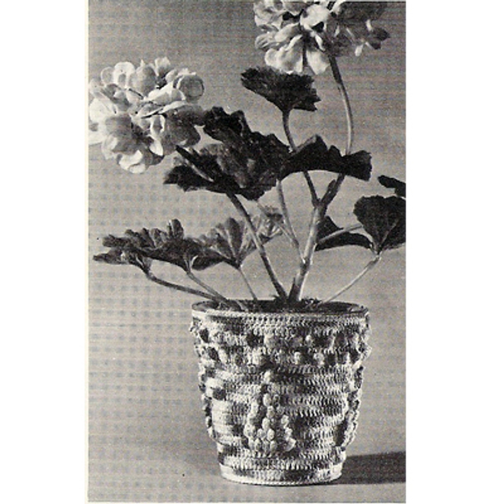 Crochet Pattern for Small Flower Pot
