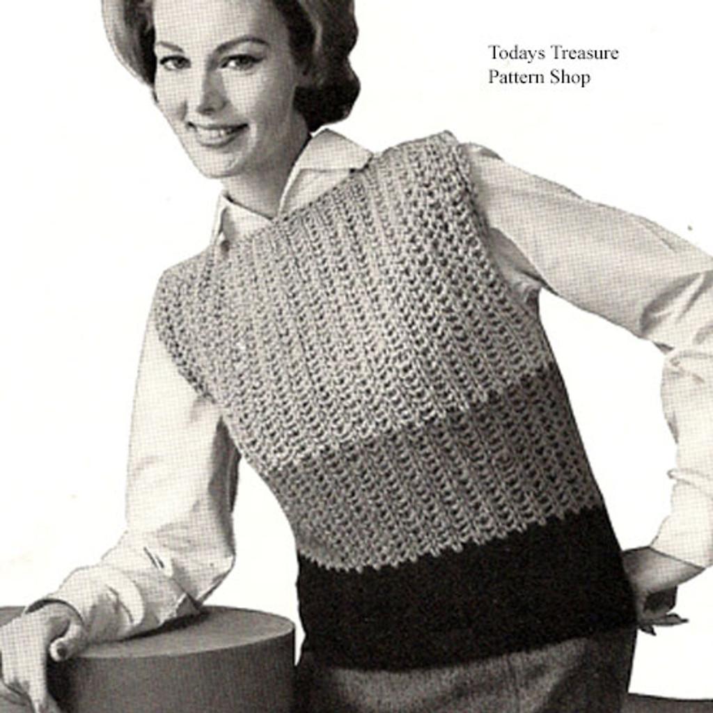 Striped Popover Shell Crochet Pattern