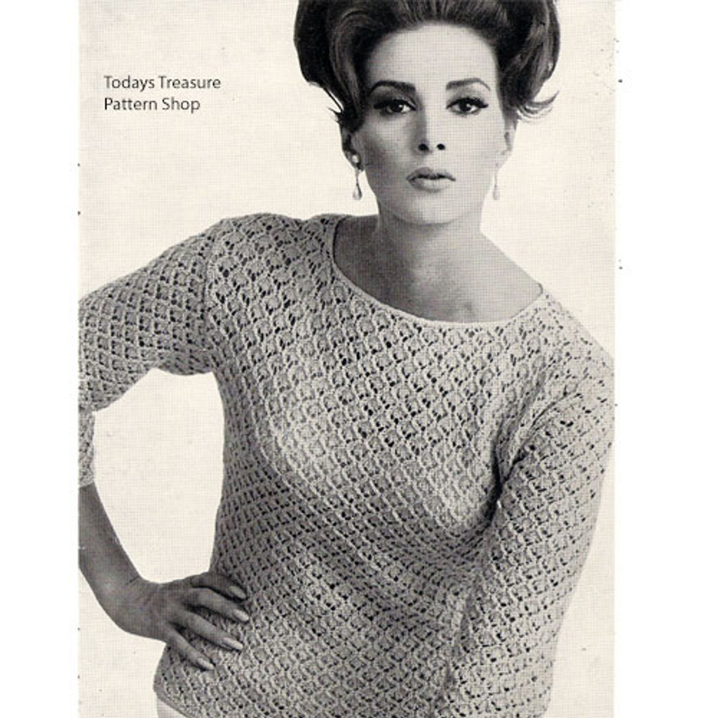 Knitting Pattern Lace Long Sleeve Bouse