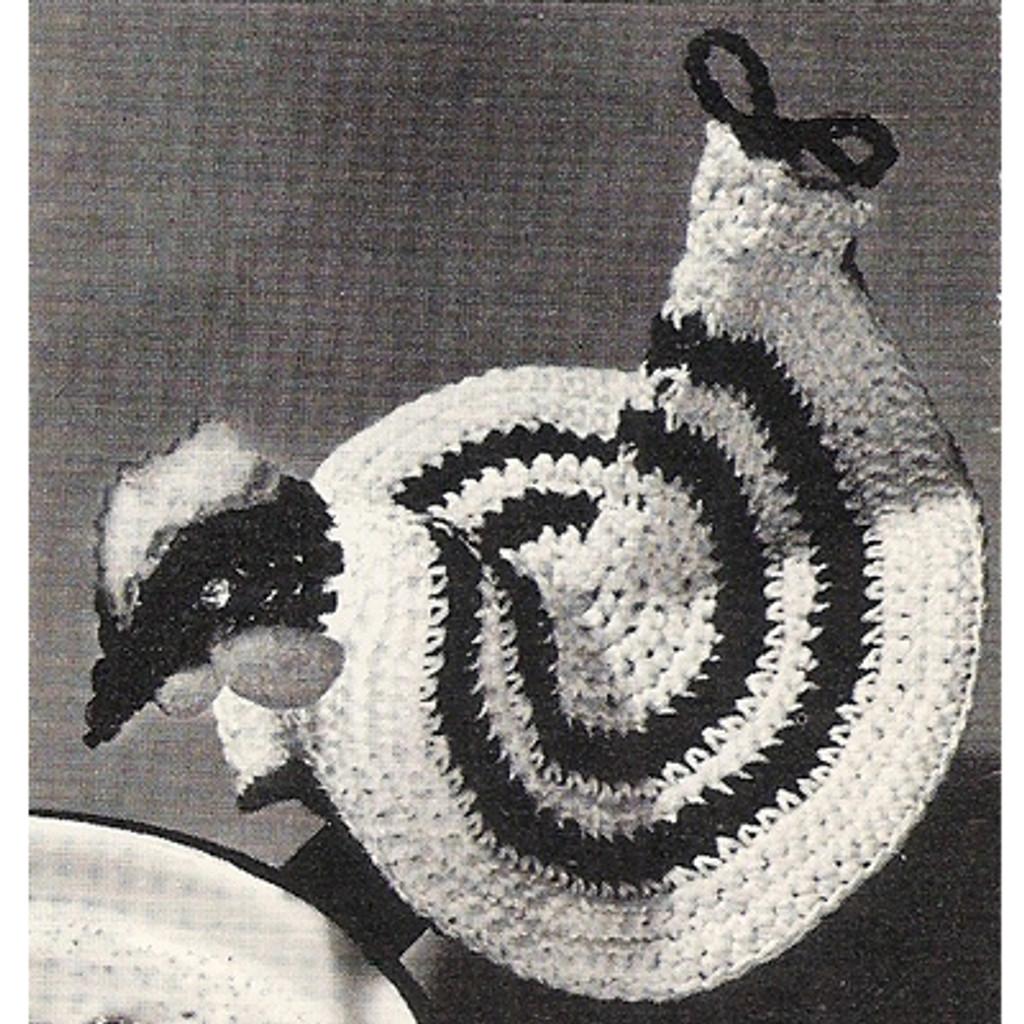 Cock-a-doodle Crochet Potholder Pattern