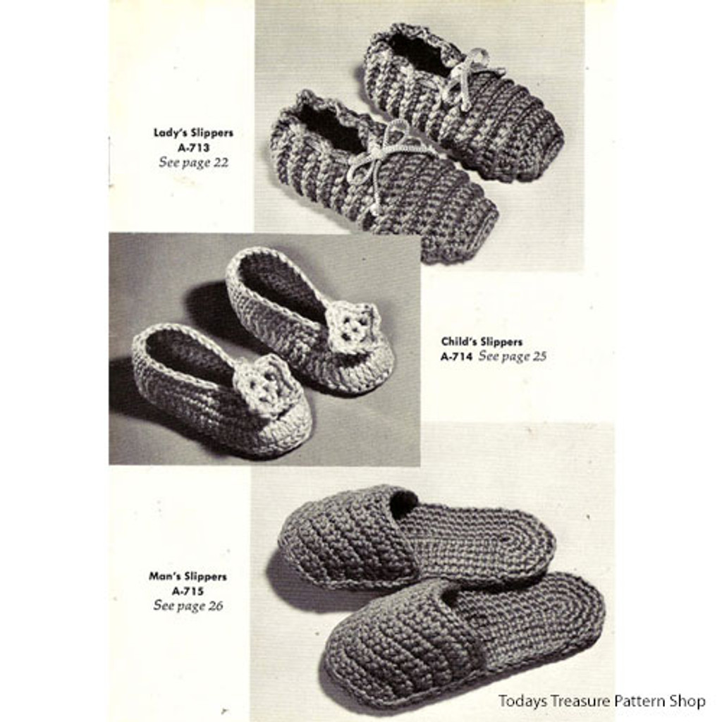 Family Scuff Slippers Pattern