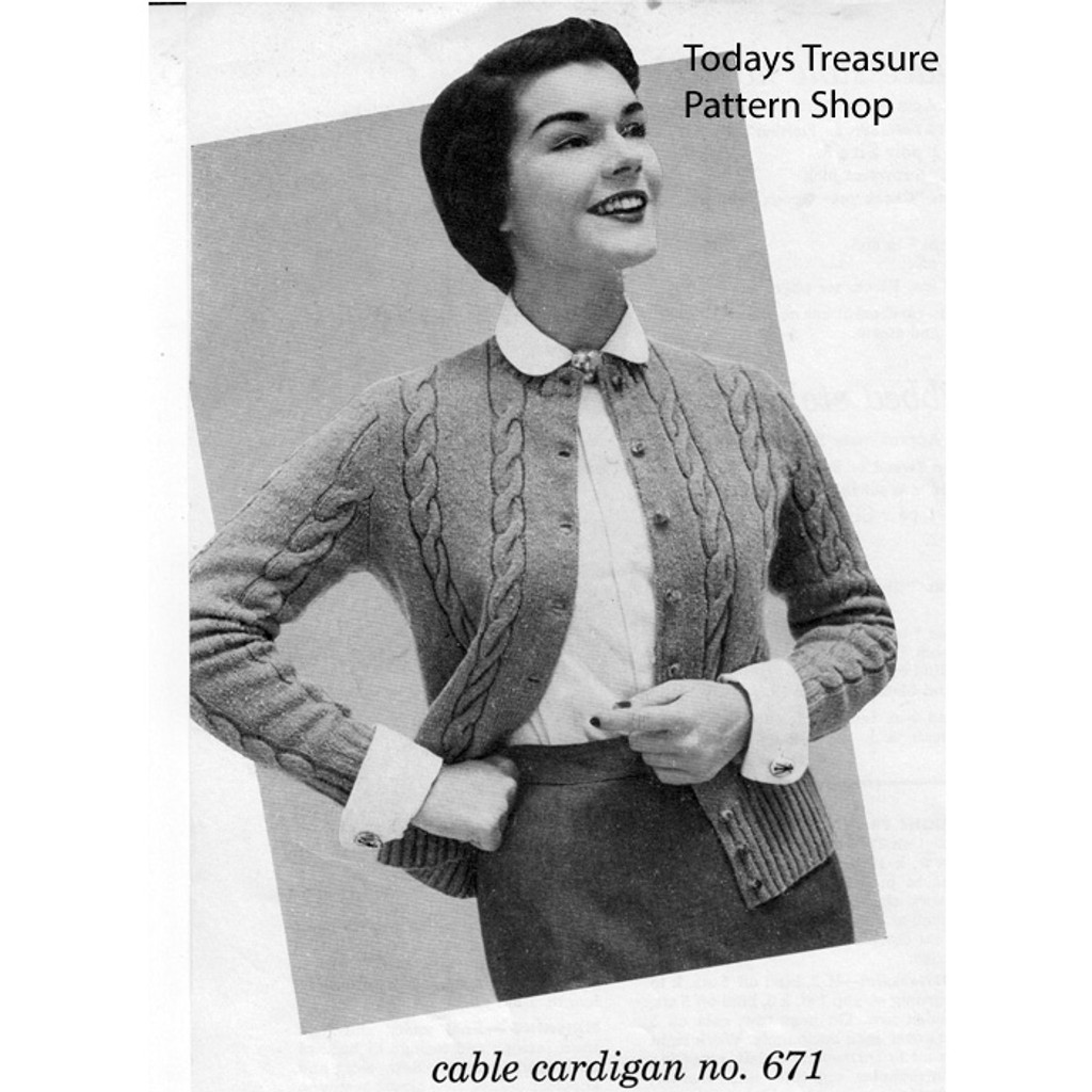 Knitted Cable Cardigan Pattern, Bernhard Ullman