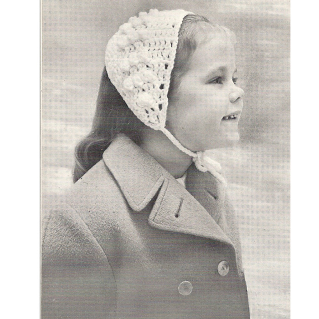 Girls Crocheted Headband Pattern with Neck Ties