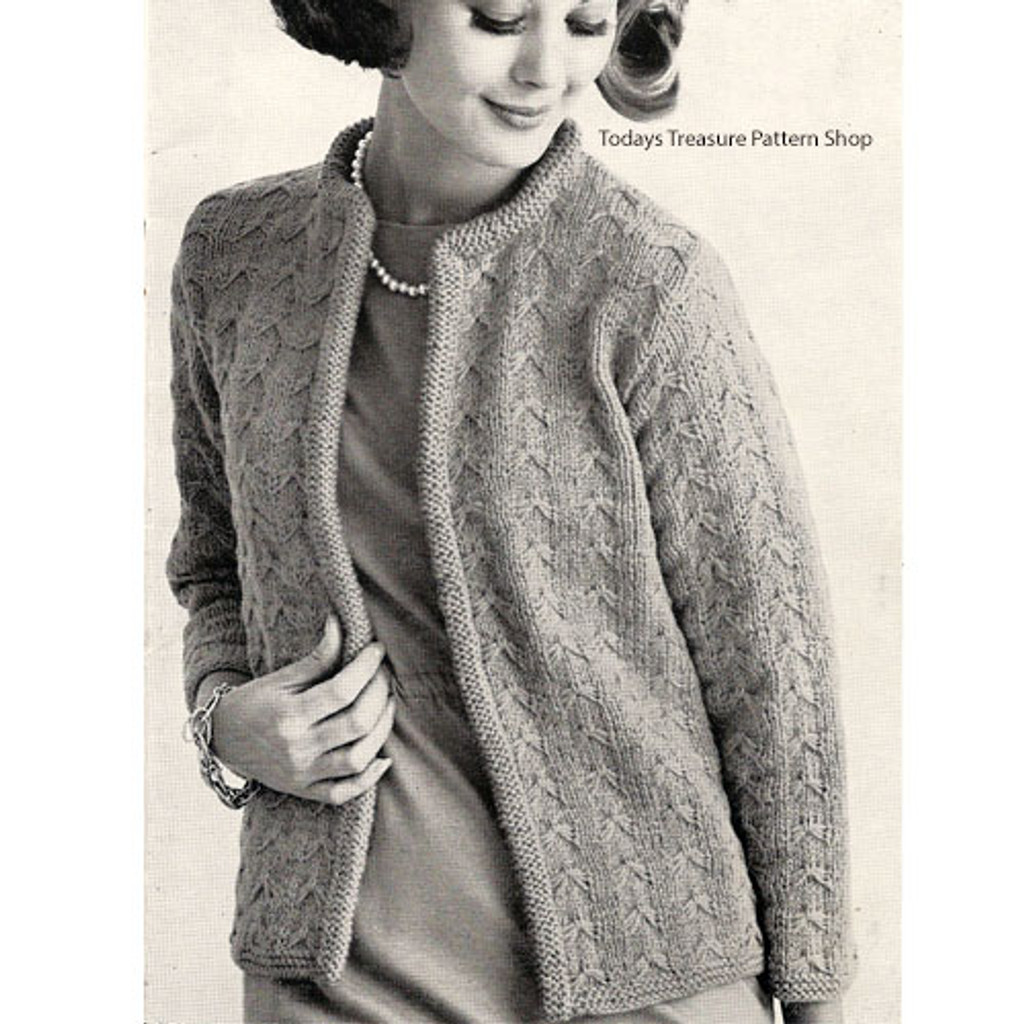 Butterfly Cardigan Knitting Pattern, Open Front