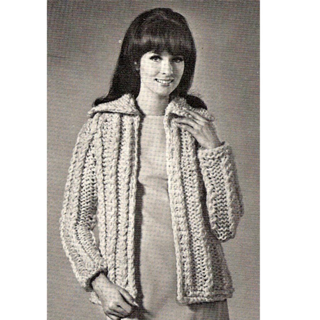 Knitting Pattern Easy Bulky Jacket Pattern