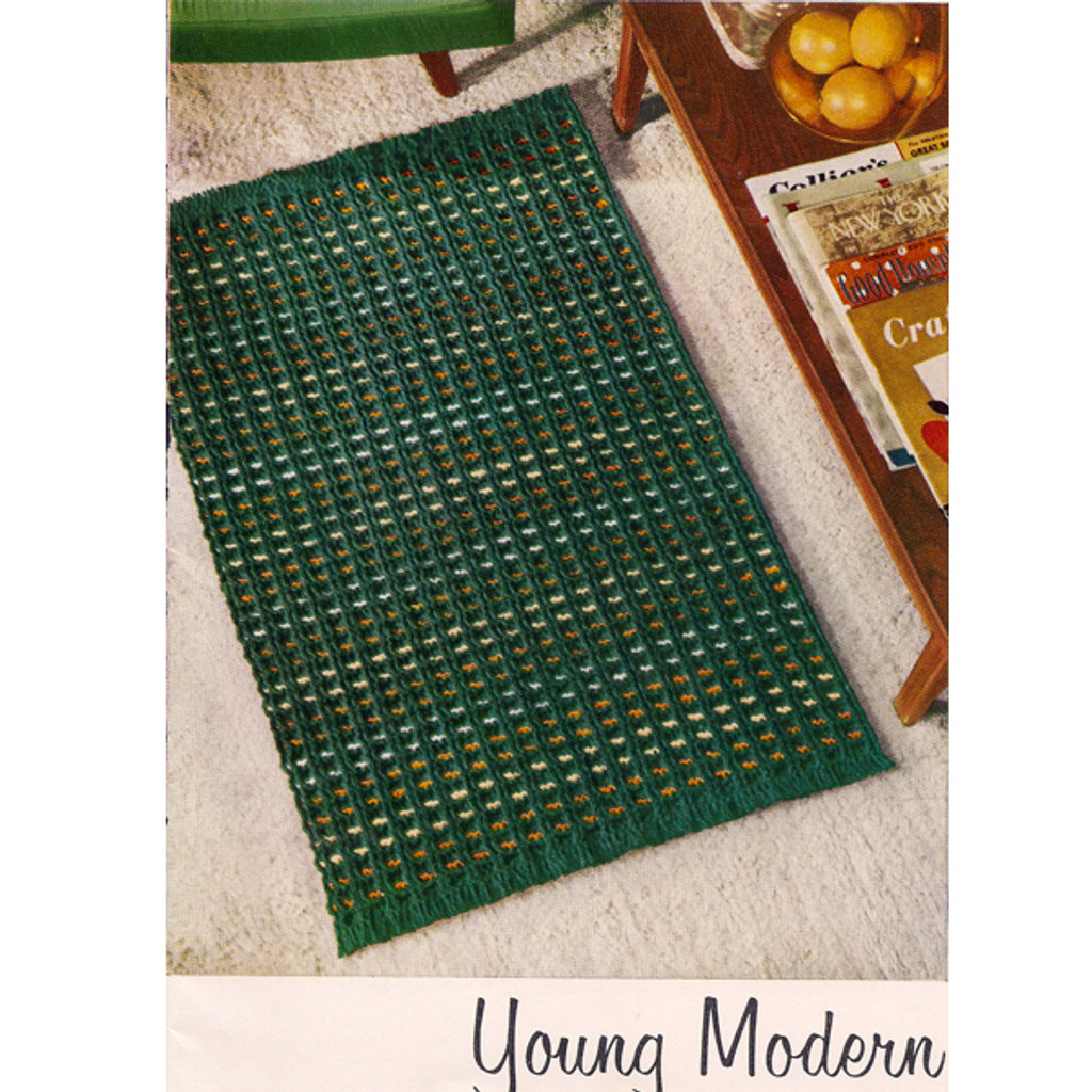 Crochet Pattern, Checked area rug
