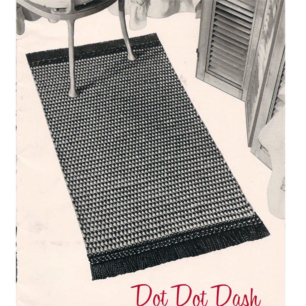 Vintage Crochet Checked Rug Pattern