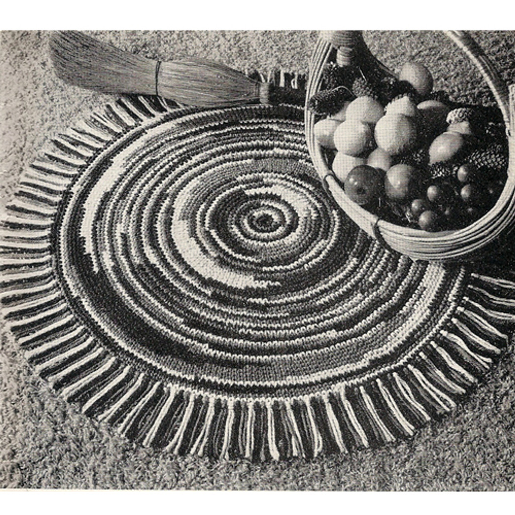 Crochet Pattern Round Mottled Place mats pattern
