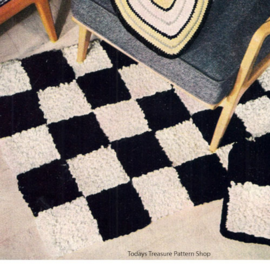 Checkerboard Rug Crochet Pattern