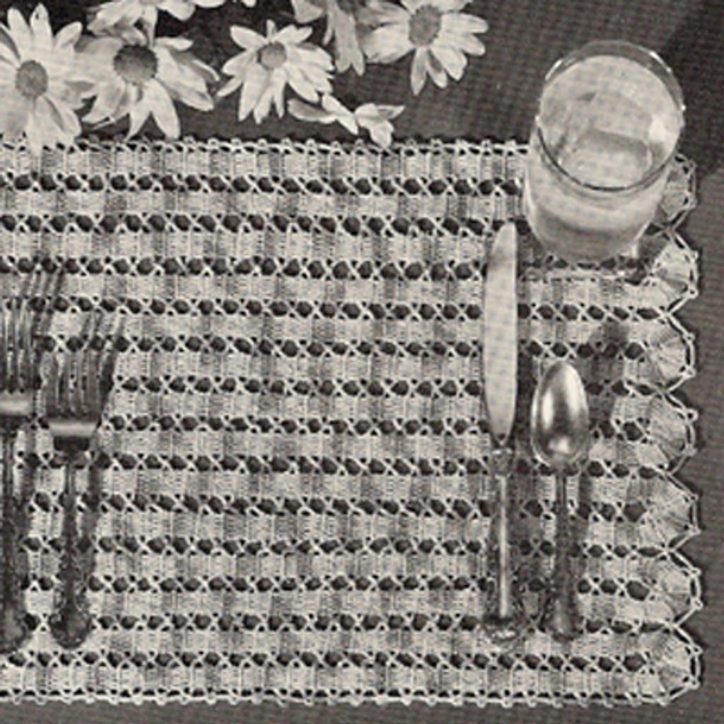Lattice Crocheted Place Mats Pattern
