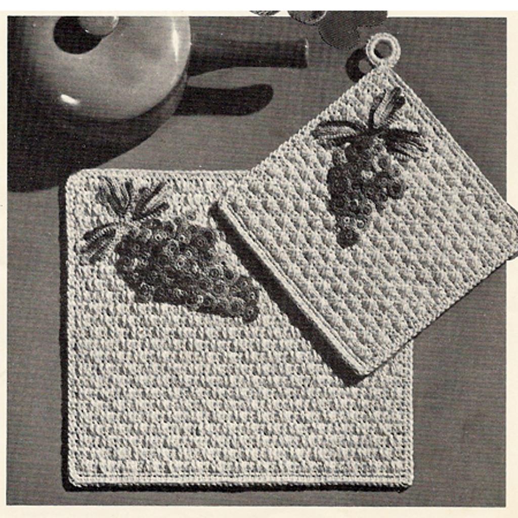 Grape Crochet Mats Pattern from Coats Clarks