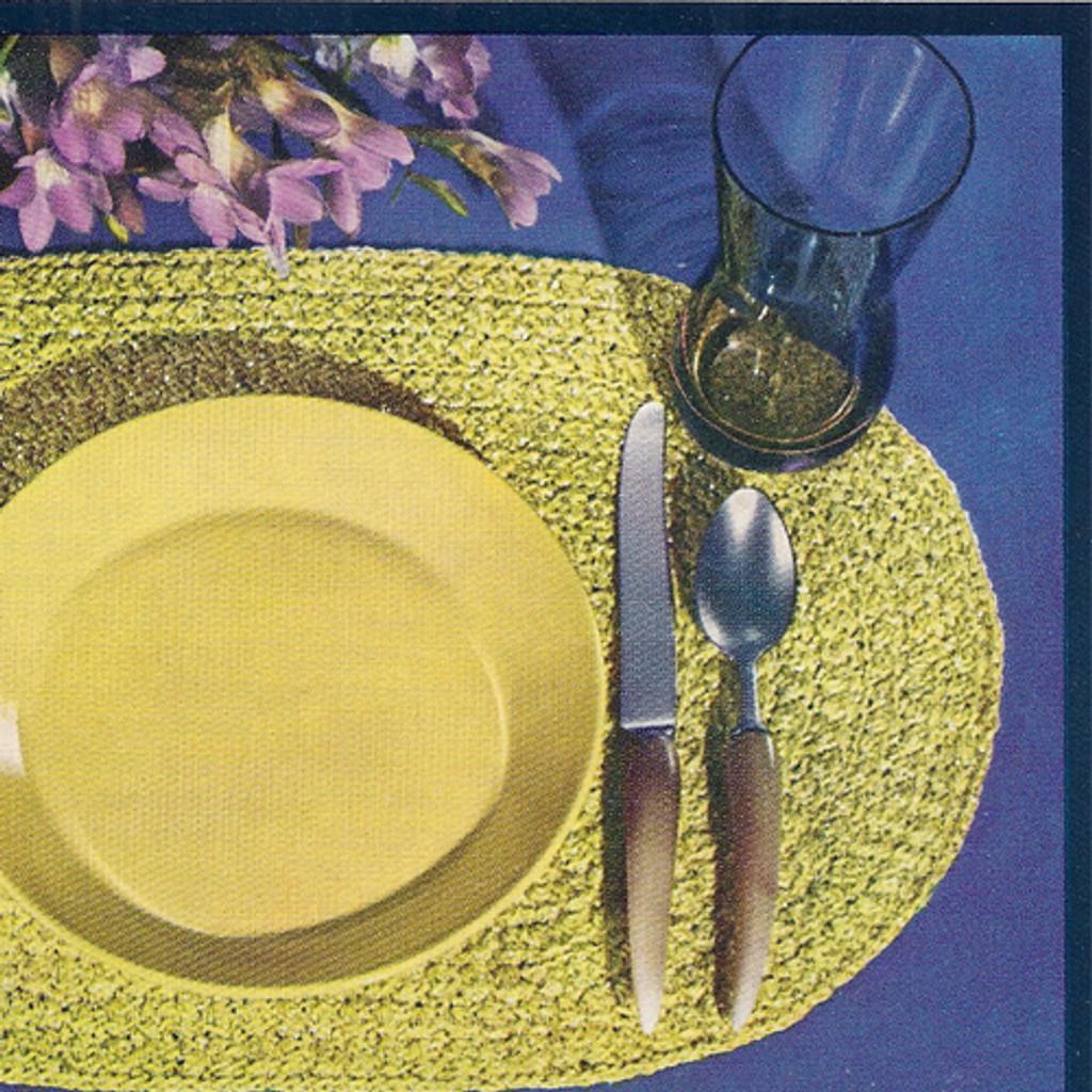 Oval Crochet Mats, Free Pattern