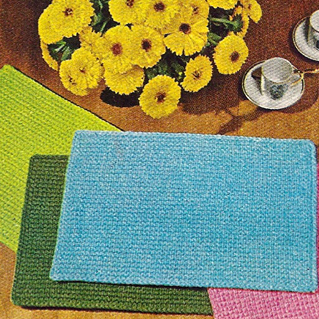 Beginner Crochet Pattern, Placemats