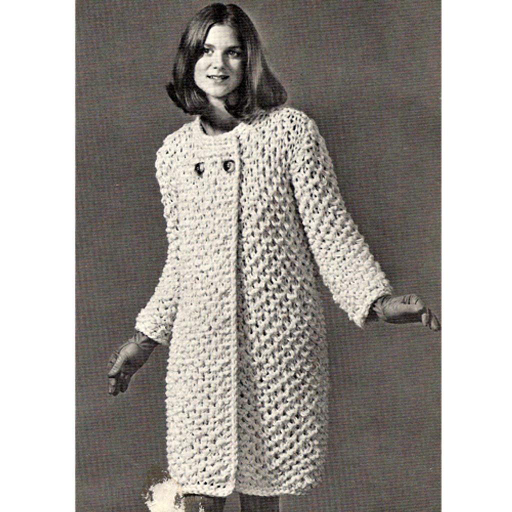 Big Needle Easy Knit Coat Pattern