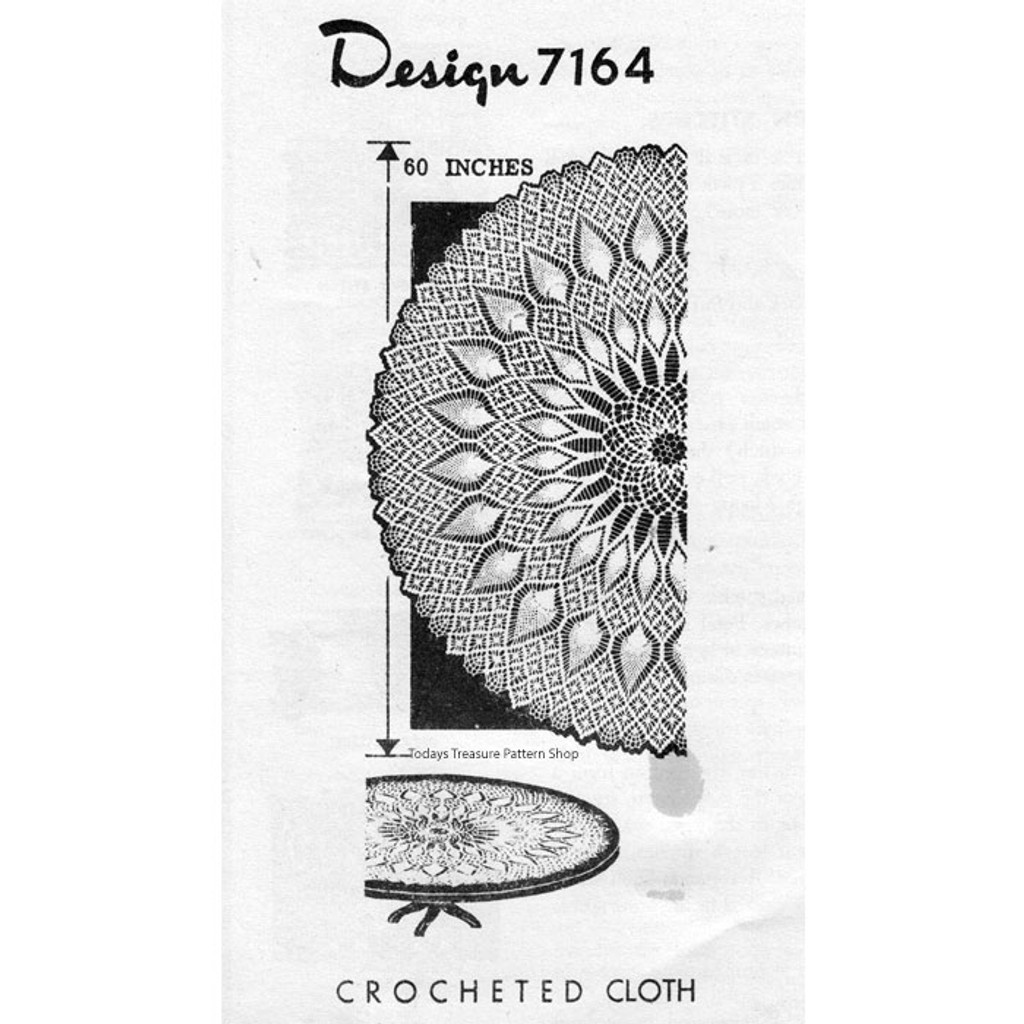 Mail Order Design 7164, Crochet Pineapple Cloth pattern