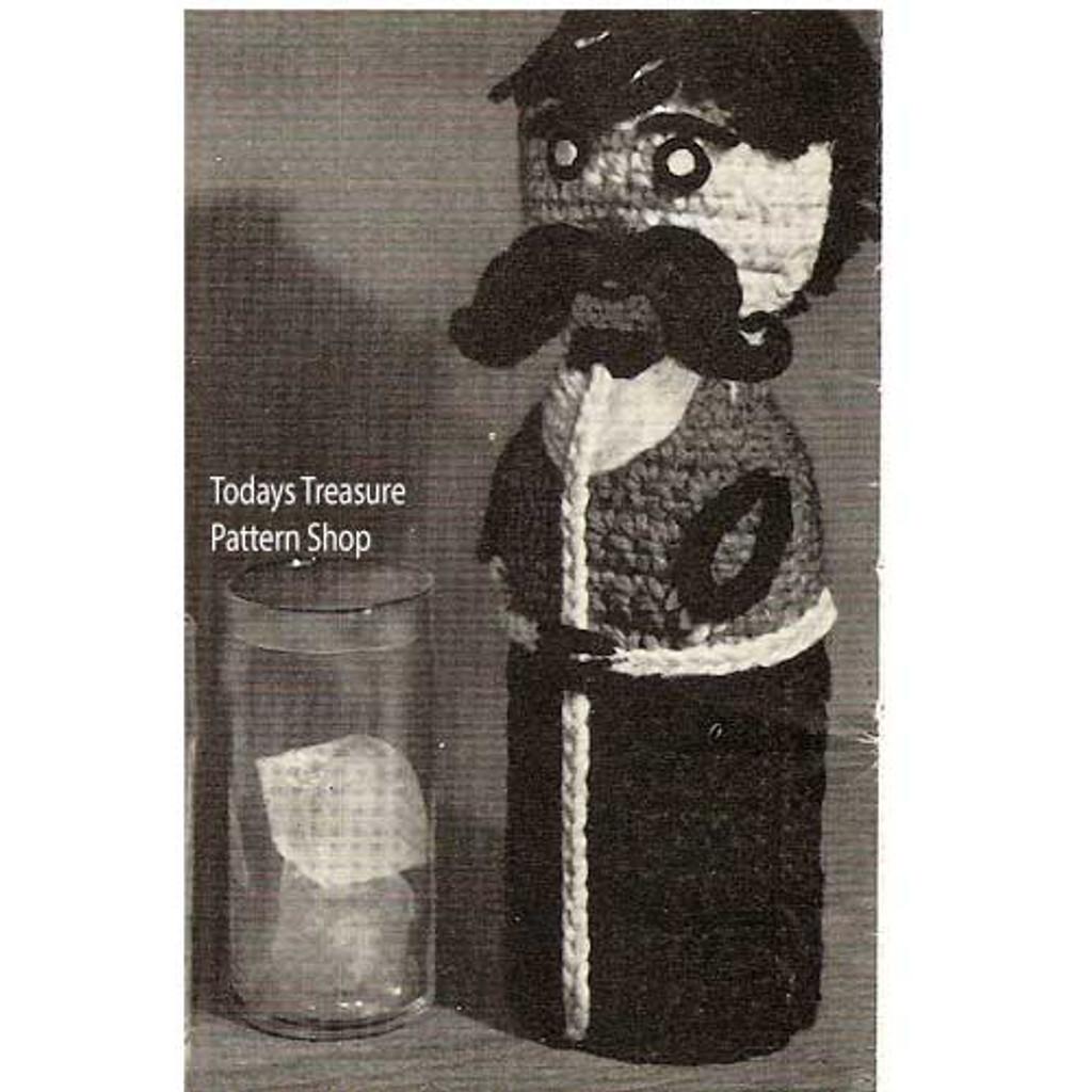 Crochet Whimsical Man Bottle Cover Pattern