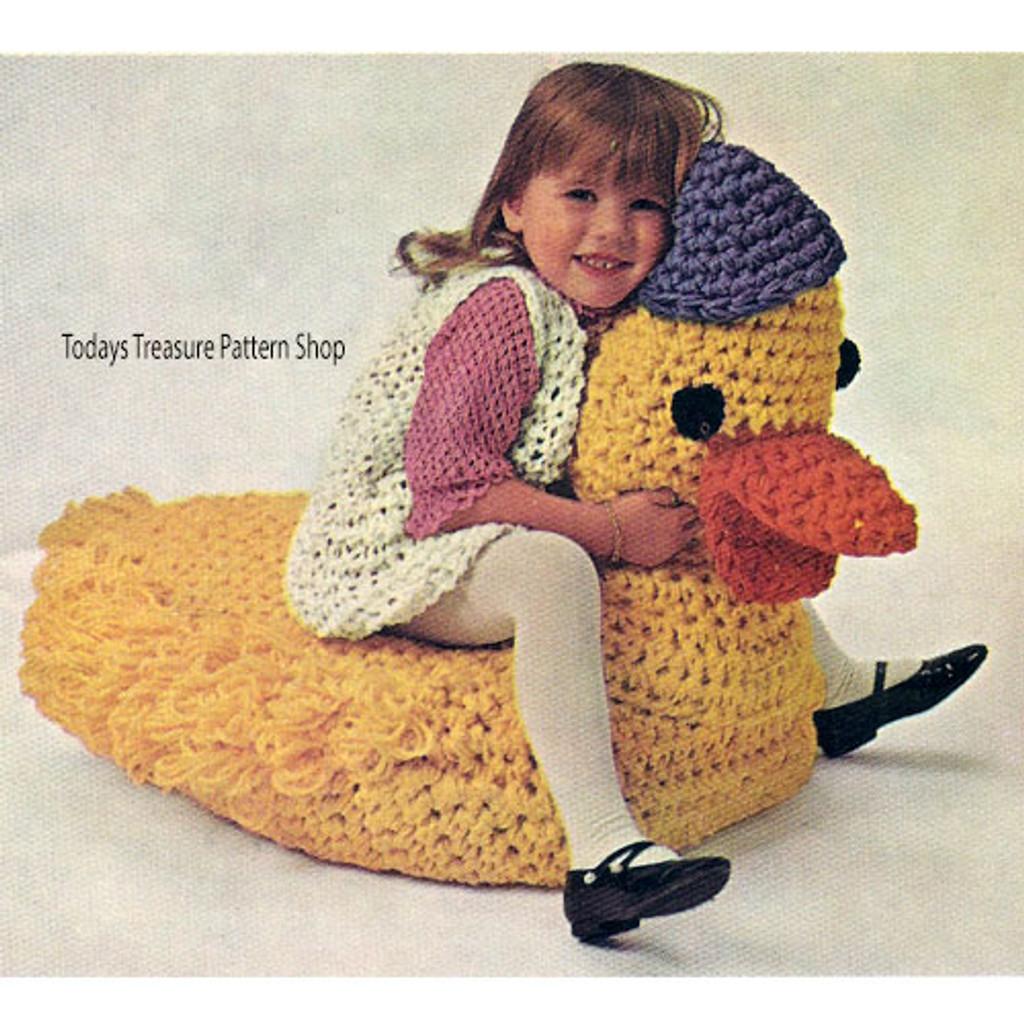 Duck Crochet Pattern, Vintage Knit Crochet Pattern Shop