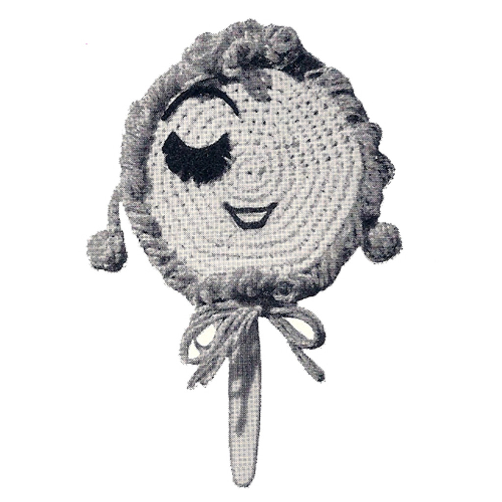 Crochet Mirror Cover with girls face