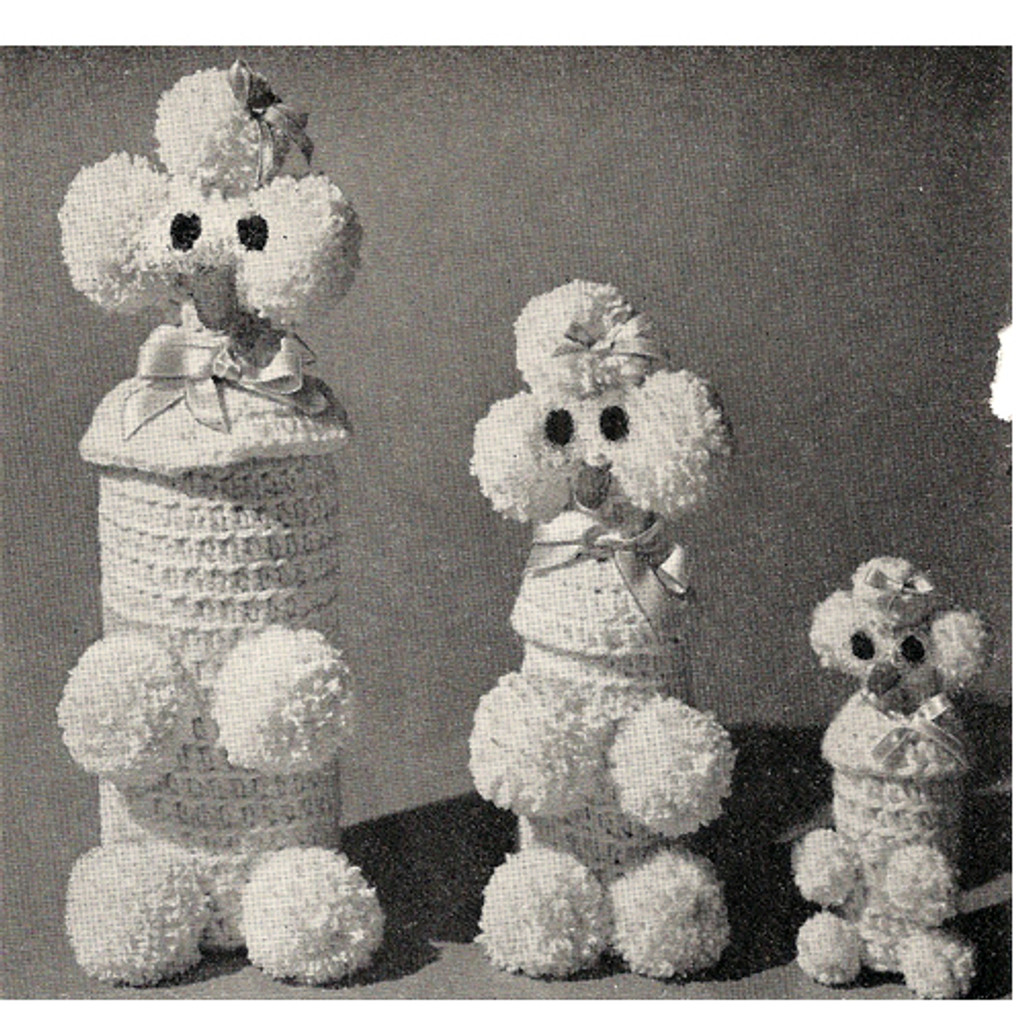 Vintage Poodle Bottle Covers