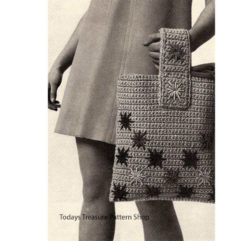 Vintage Flower Crochet Bag Pattern
