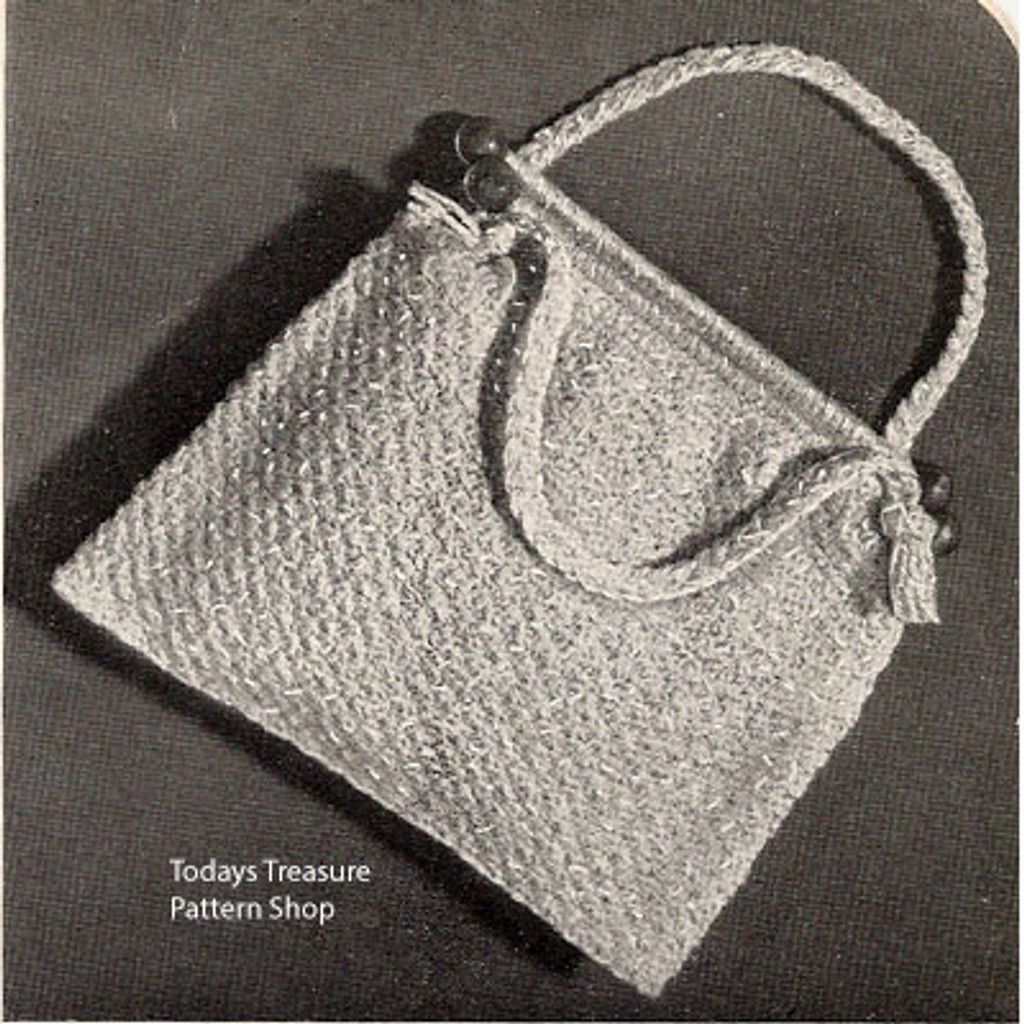 Vintage Utility Bag Knitting Pattern