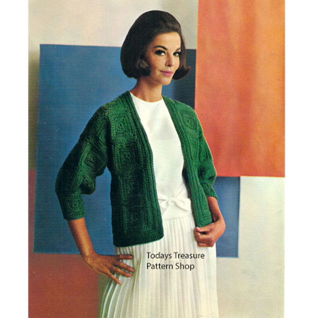 Crocheted Green Cardigan Pattern