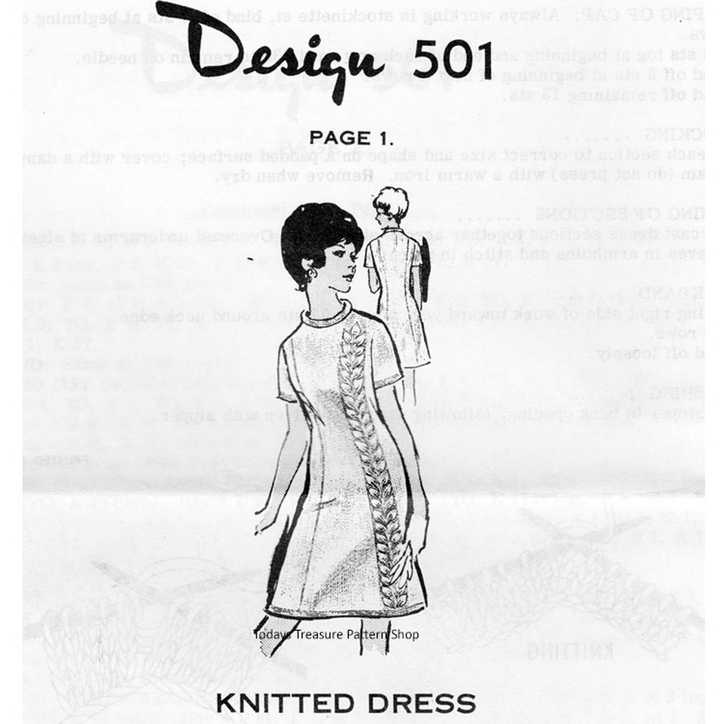 Mail Order Dress Knitting Pattern Design 501