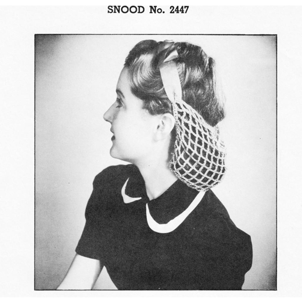 Vintage Knit Crochet Shop Talk The Vintage Crochet Snood Pattern Of