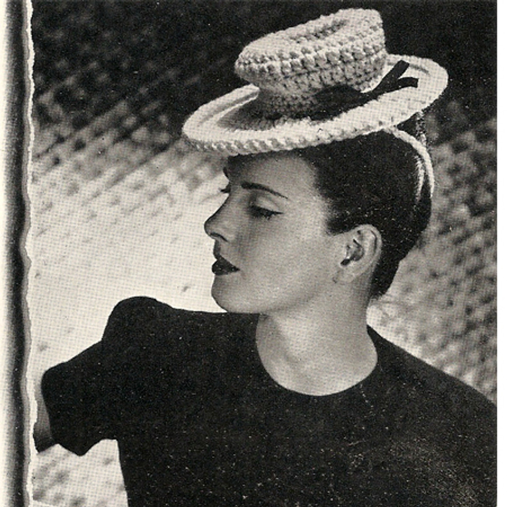 Vintage Crocheted Classic Sailor Hat Pattern