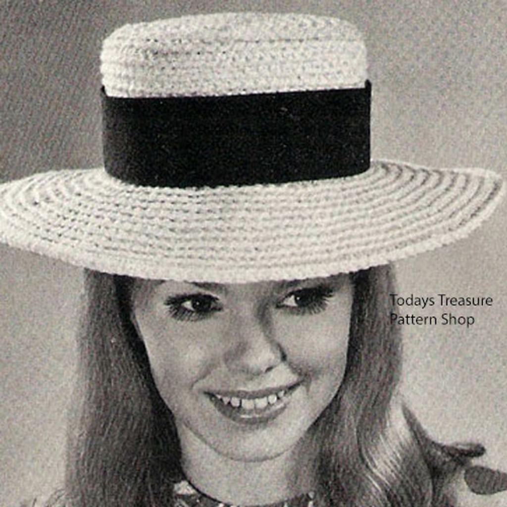Wide Brimmed Crochet Hat Pattern