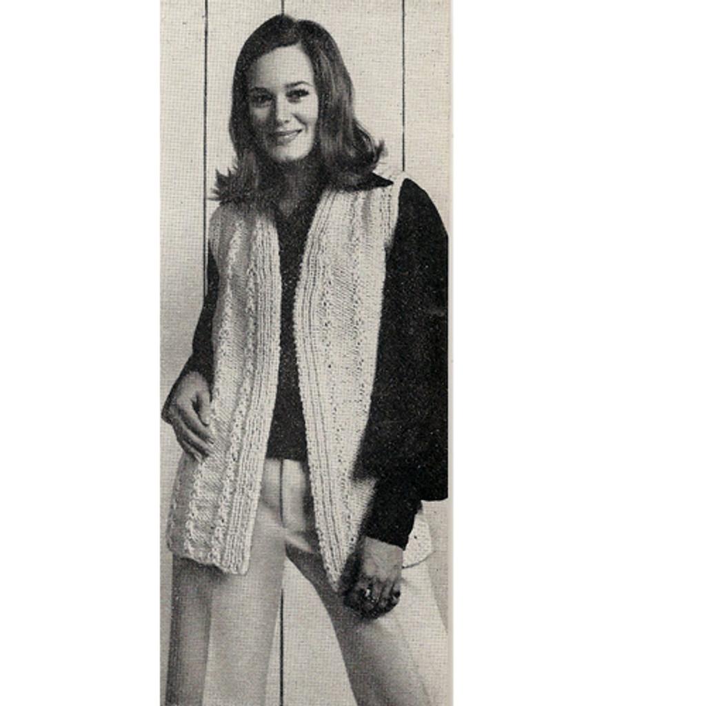 Vintage 1960's Crochet Vest Pattern