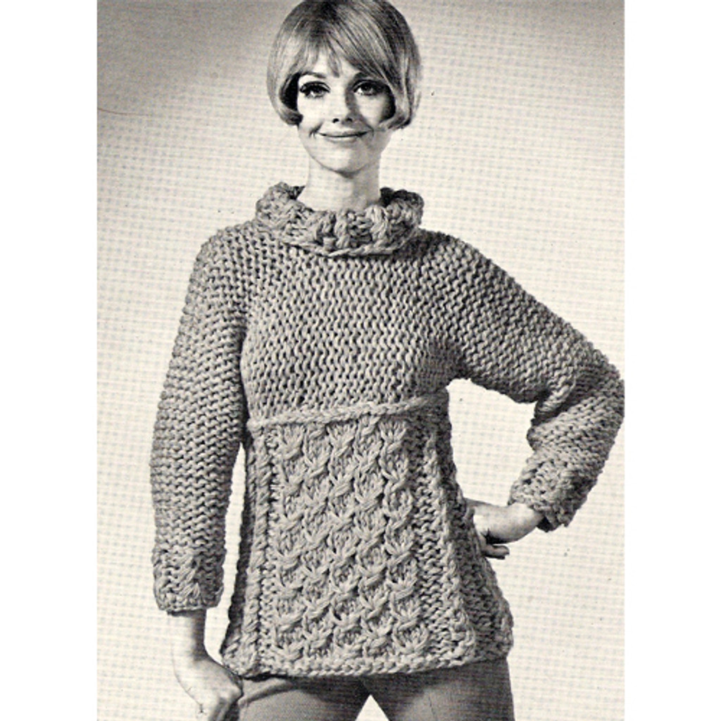 Bulky Blouse Knitting Pattern