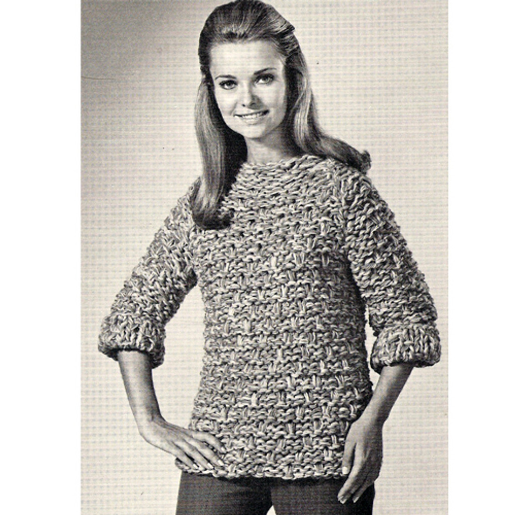 Easy Bulky Sweater Knitting Pattern on Big Needles