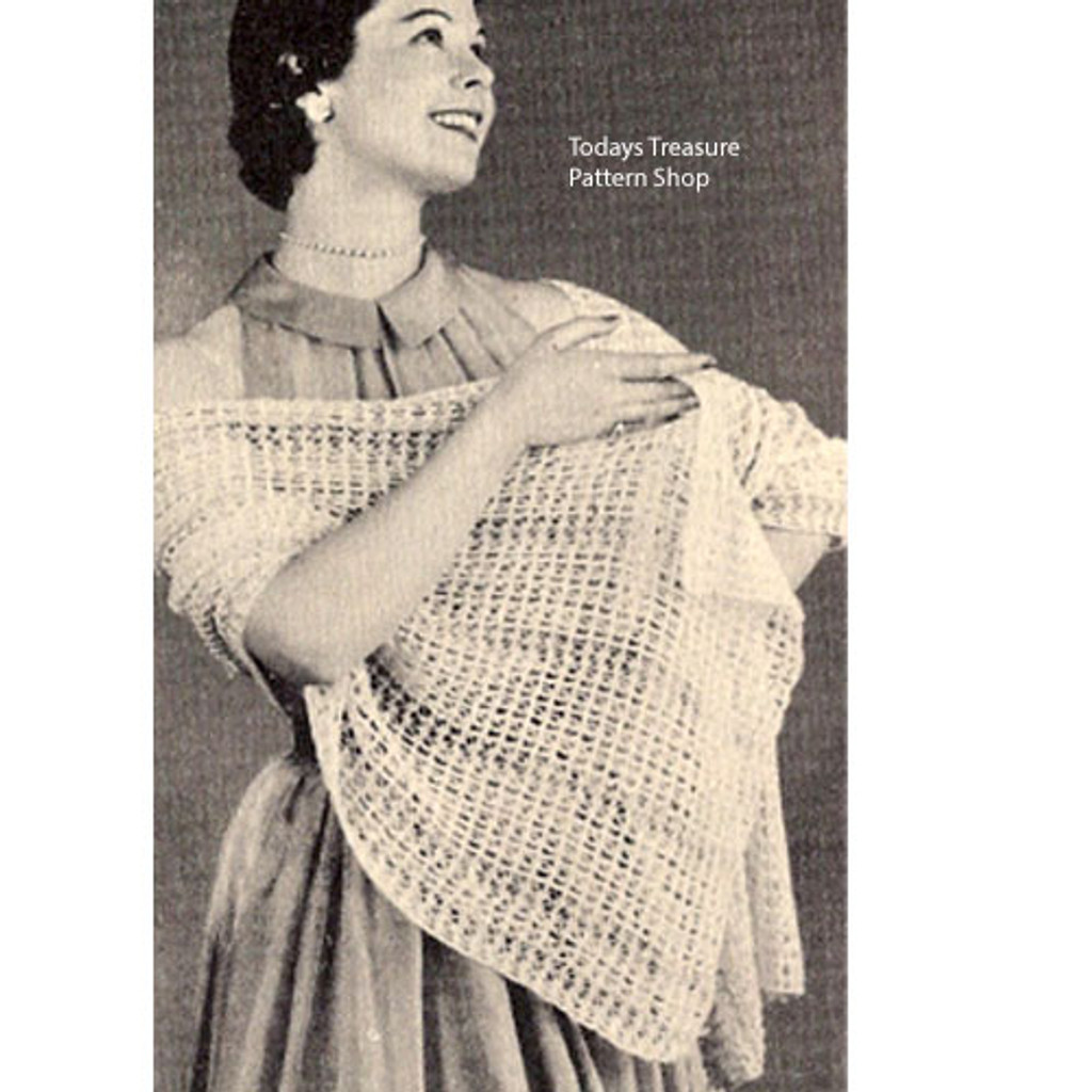Free Knitted Stole Pattern, Beginners