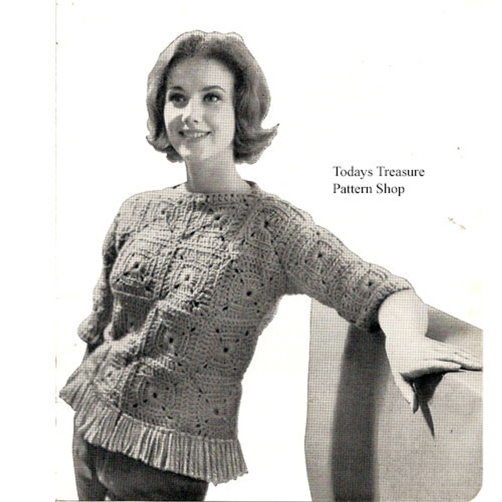 Easy Crocheted Block Pullover Pattern