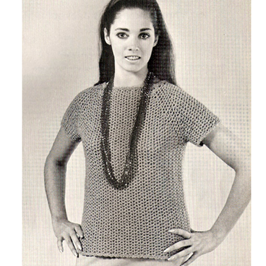 Two Skein Crochet Blouse Pattern
