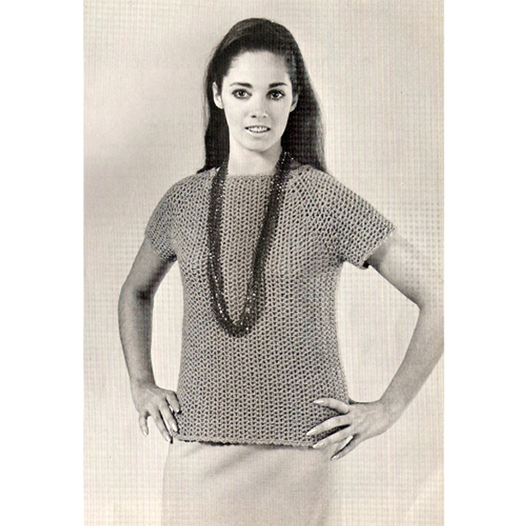 Short Sleeve Crocheted Top Pattern, Raglan Sleeves