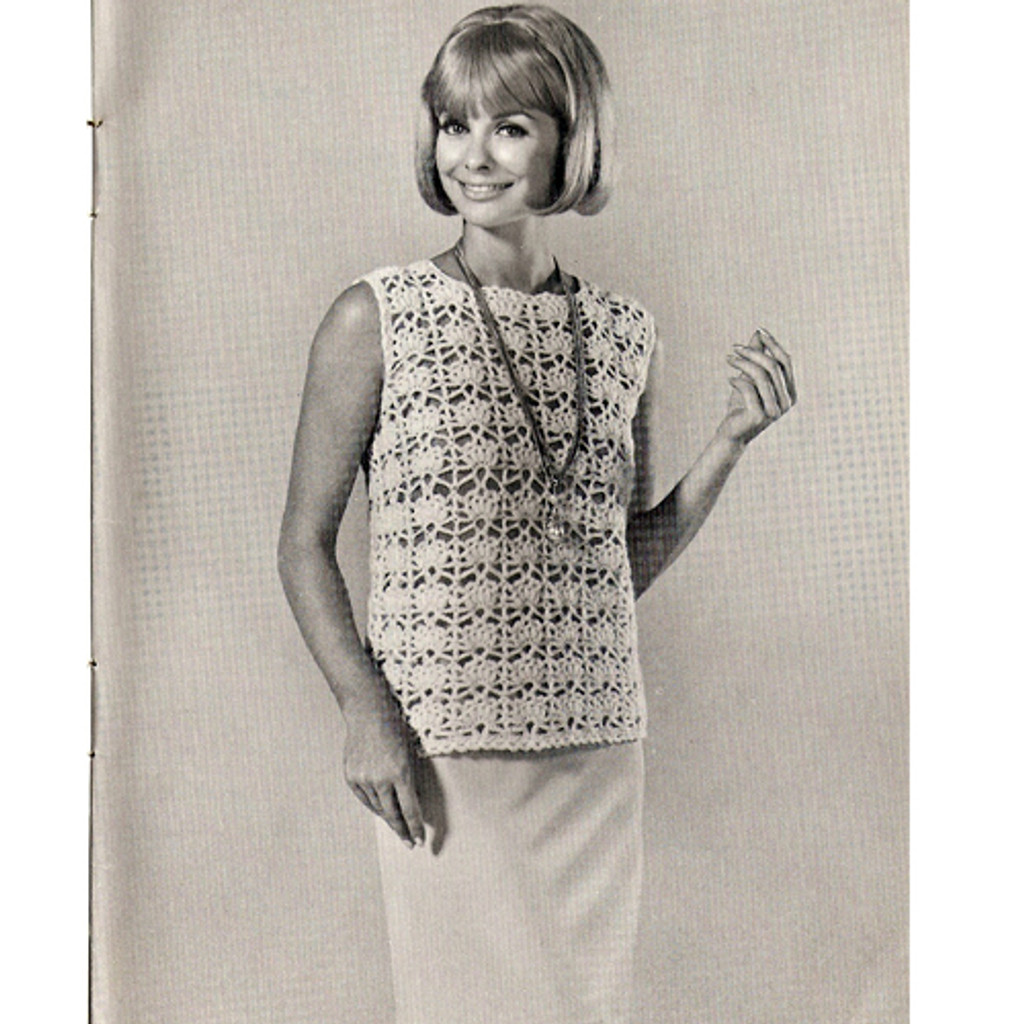 Knitted Top Shell Pattern, Beginners Pattern