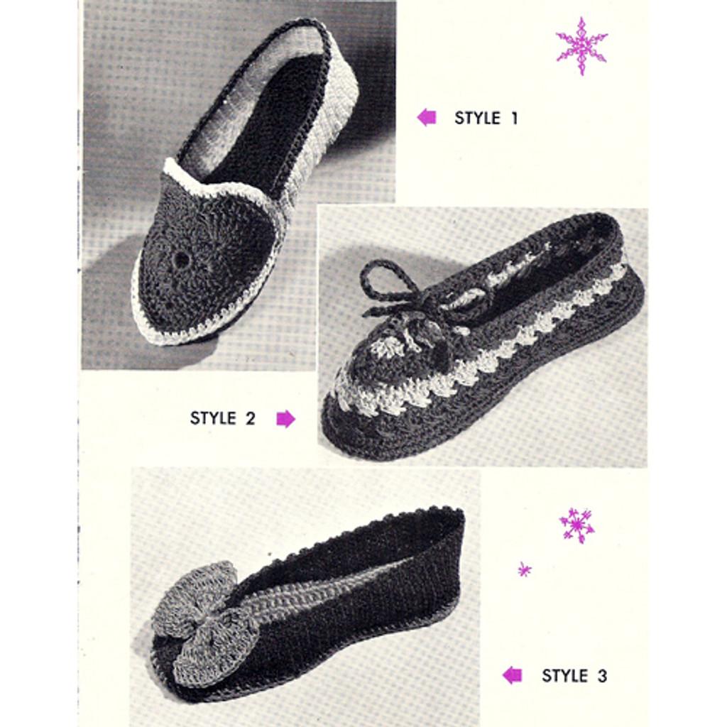 Loafer Crochet Pattern, Bow Tie, Contrast Trim
