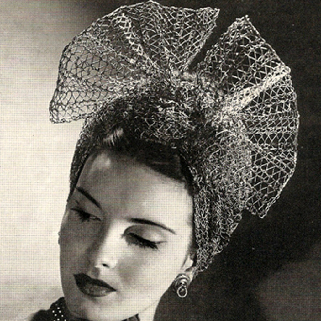 Vintage Mesh Bowed Turban Crochet Pattern