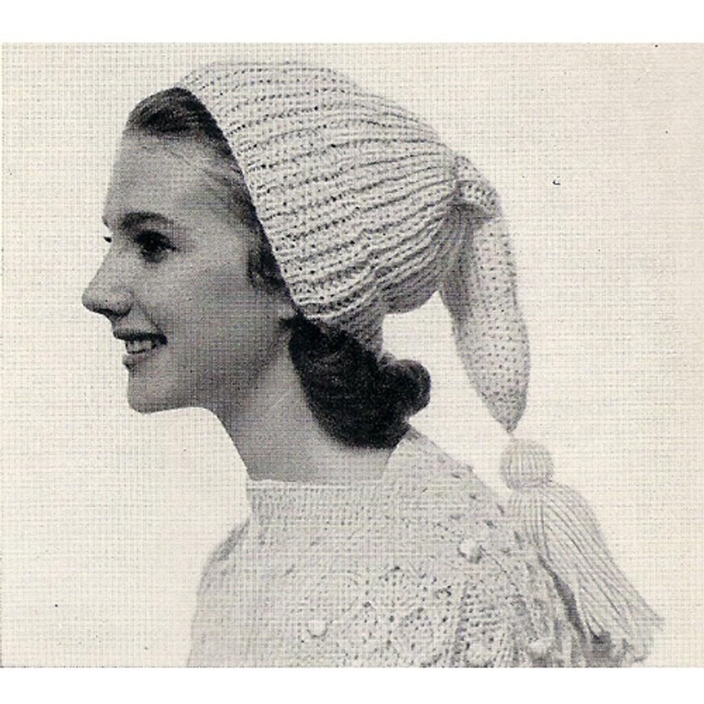 Tasseled Stocking Cap Knitting Pattern Vintage American Thread