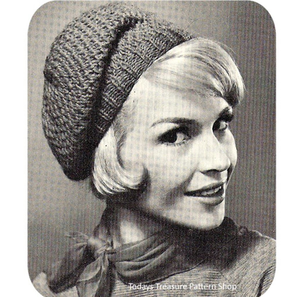 Vintage Beret Knitting Pattern