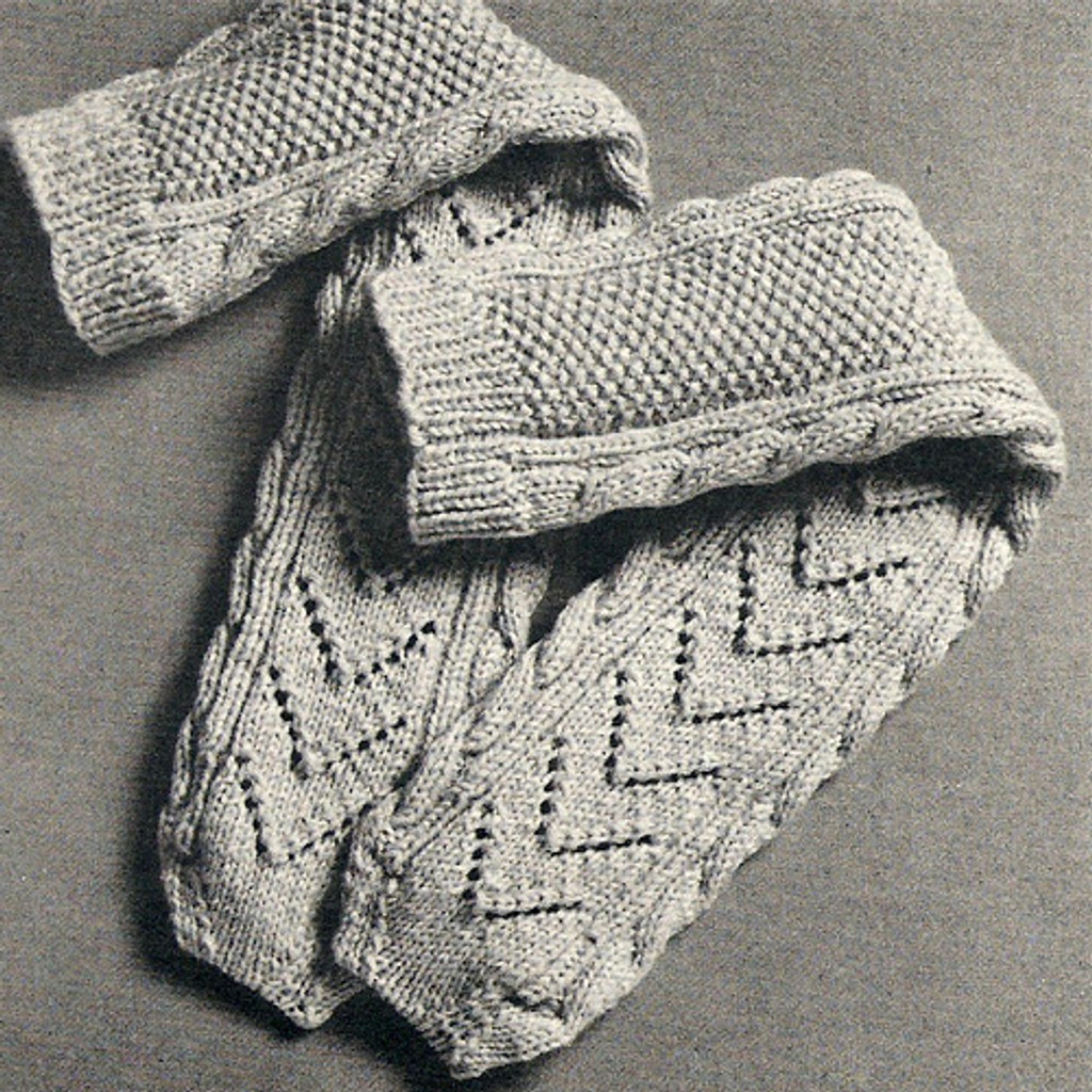 Womens Ara Knitted Socks Pattern, Vintage 1950s