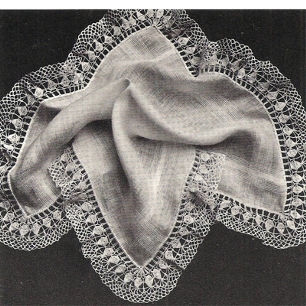 Vintage Crochet Edging Pattern, Rose Petals