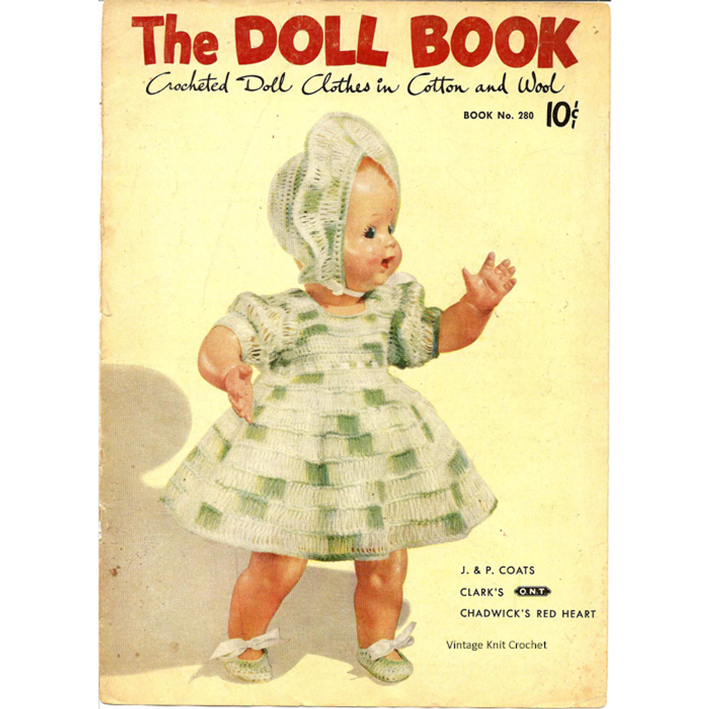 Vintage Knit Crochet Shop Talk The Doll Book Crochet Outfit