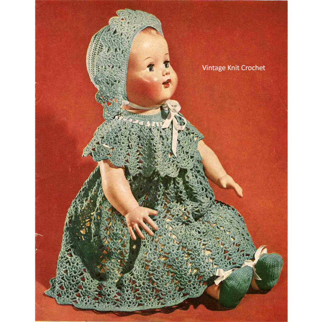 Crocheted Babe in Arms Doll Dress Pattern