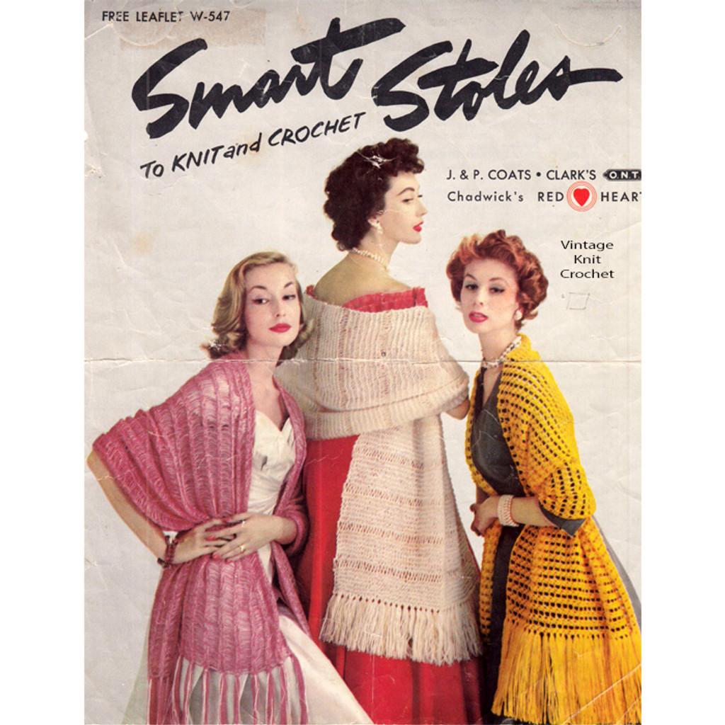 Coats Clarks Leaflet W-547 Smart Stoles