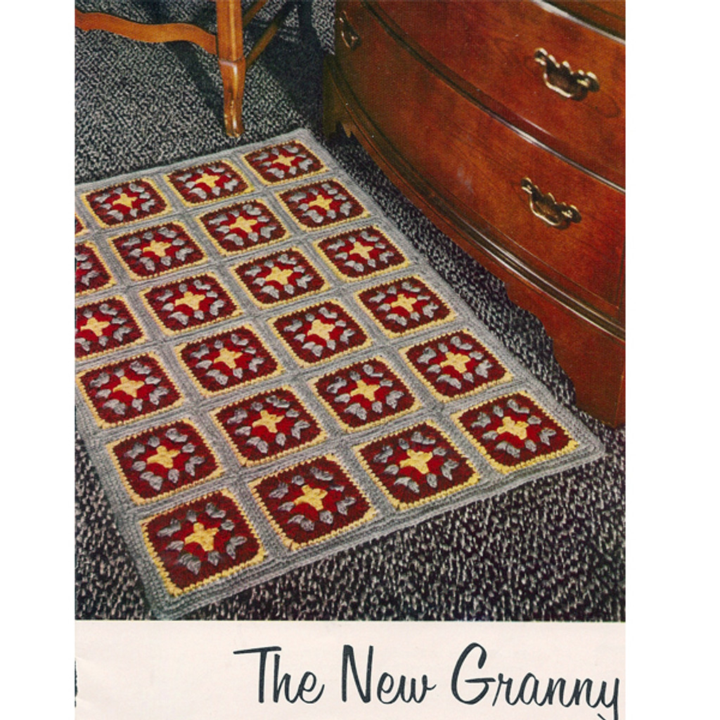 Crochet Granny Square Block Rug Pattern