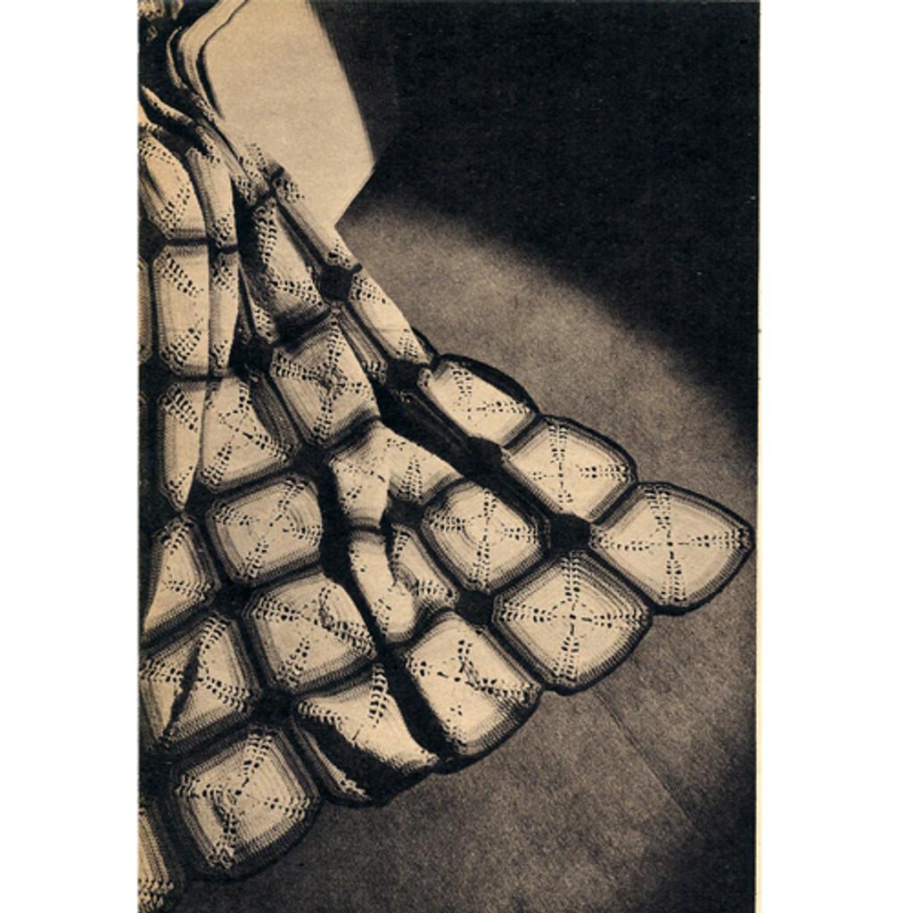 Crocheted Block Afghan Pattern in Germantown