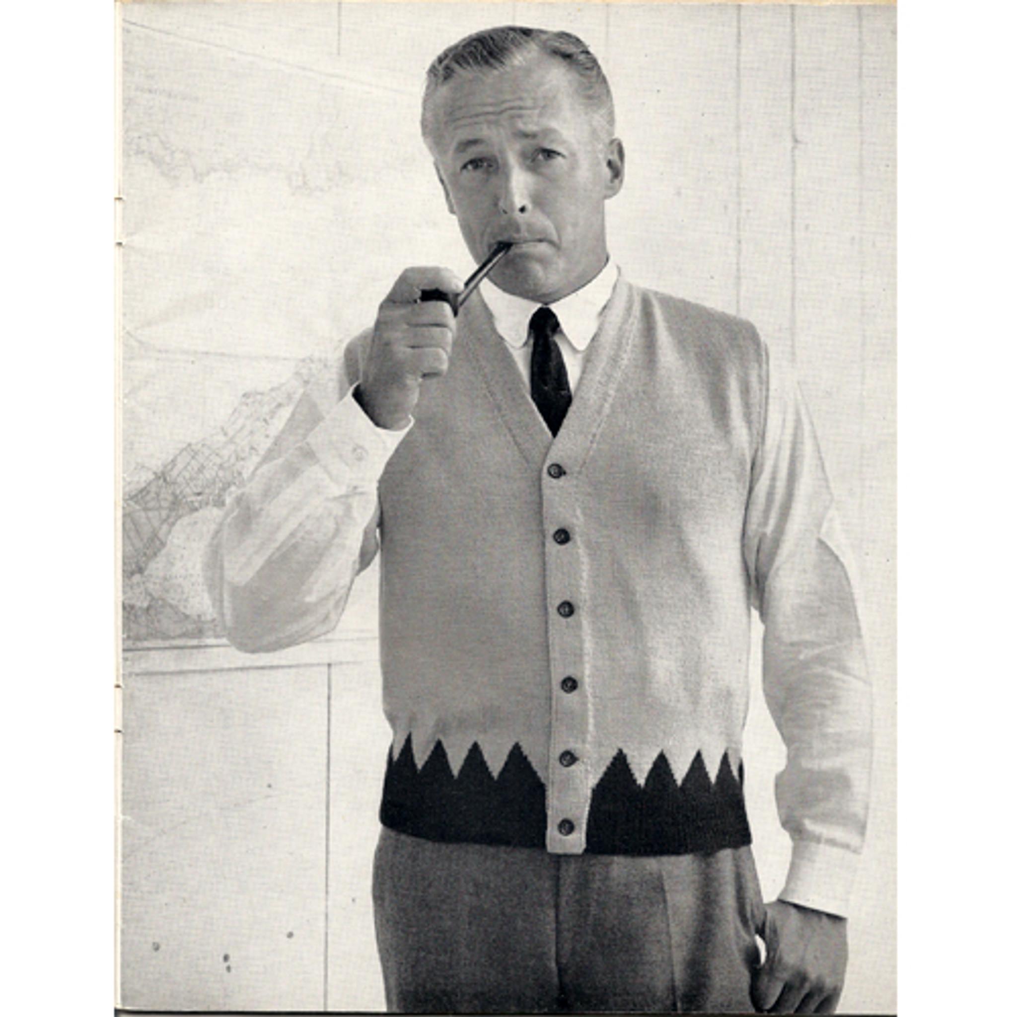 Vintage Mans Buttoned Vest Pattern CM 734-7